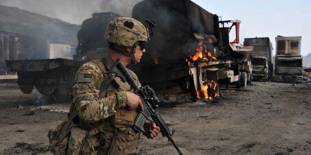 Amerikansk soldat i Afghanistan. NOORULLAH SHIRZADA / TT NYHETSBYRÅN