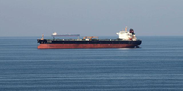 Fartyg i Hormuzsundet. Arkivbild. Hamad I Mohammed / TT NYHETSBYRÅN
