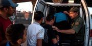 Migranter mestadels från Sydamerika i El Paso, Texas. Arkivbild. PAUL RATJE / AFP