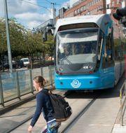 Tvärbanan i Stockholm som drivs av Arriva. Fredrik Sandberg/TT / TT NYHETSBYRÅN