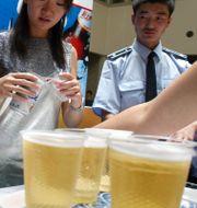 Arkivbild: Asahi och Beijing Beer lanserade sin nya öl Sheng Bi 2004. NG HAN GUAN / TT NYHETSBYRÅN