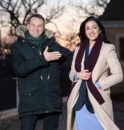 Anders Lundin och Parisa Amiri.  Fredrik Sandberg/TT / TT NYHETSBYRÅN