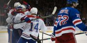 Montreal Canadien firar Thompsons mål.  BRAD PENNER / BILDBYRÅN