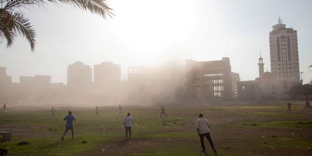 Flyganfallet i Gaza. Khalil Hamra / TT / NTB Scanpix