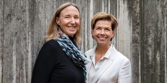 Lee Wermelin och Sofia Larsen, ordföranden för Civilekonomerna respektive Jusek.  Jessica Segerberg / Jessica Segerberg
