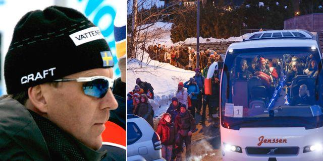 Torbjörn Nordvall (arkivbild)/publik i Holmenkollen i lördags. TT