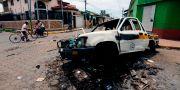 En uppbrunnen bil i Masaya.  INTI OCON / AFP