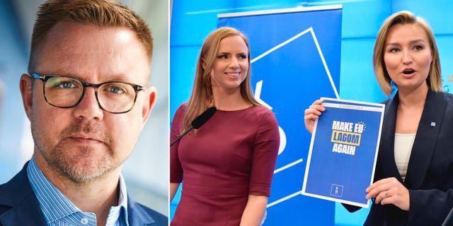 Fredrick Federley / Sara Skyttedal och Ebba Busch Thor.  TT
