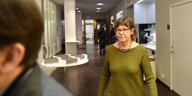 LSS-utredaren Gunilla Malmborg lämnade igår sin utredning till övergångsregeringen. Henrik Montgomery/TT / TT NYHETSBYRÅN