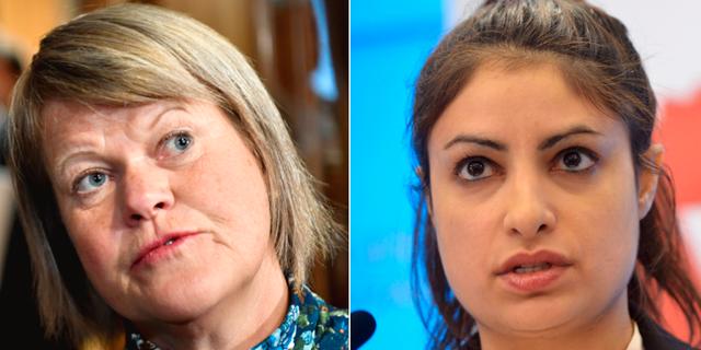 Vänsterpartisterna Ulla Andersson och Nooshi Dadgostar. TT
