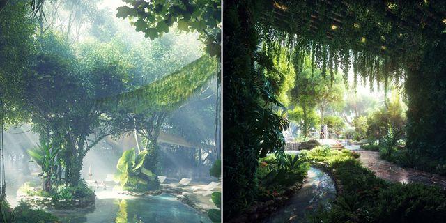 I slutet av året är det premiär för det första hotellet i världen med en egen regnskog – givetvis i Dubai. Rosemont Hotel and Residence
