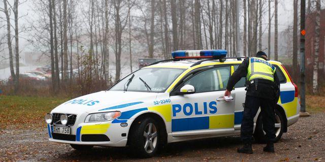 Polis bevakar joggingspar