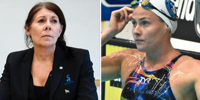 Ulla Gustavsson och Michelle Coleman. Arkivbilder. TT Nyhetsbyrån.