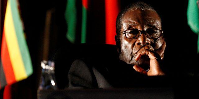 Robert Mugabe i Johannesburg, 17 augusti 2008. Reuters/TT