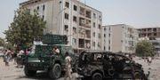 Efterspelet efter en attack i Aden den 1 augusti.  Nariman El-Mofty / TT NYHETSBYRÅN/ NTB Scanpix