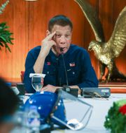 Filippinernas president Rodrigo Duterte. Simeon Celi Jr. / TT NYHETSBYRÅN