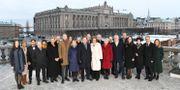Statsminister Stefan Löfvens nya regering fotograferad på Lejonbacken framför Riksdagshuset i Stockholm. Jonas Ekströmer/TT / TT NYHETSBYRÅN