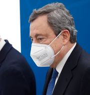 Italiens premiärminister Mario Draghi tillsammans med hälsoministern Roberto Speranza, mars 2021.  Alessandra Tarantino / TT NYHETSBYRÅN