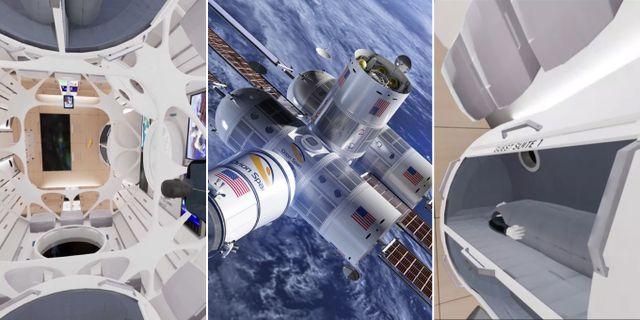 Så här väntas rymdhotellet Aurora Station se ut när det är färdigbyggt. Orion Span