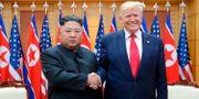 Donald Trump och Kim Jong-Un i samband med mötet i helgen. TT NYHETSBYRÅN/ NTB Scanpix
