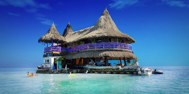 Karibiens kanske coolaste hostel ligger på en egen pytteliten ö. Casa en el Agua