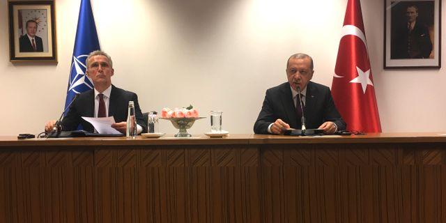 Erdogan och Natochefen Jens Stoltenberg. Sylvain Plazy / TT NYHETSBYRÅN