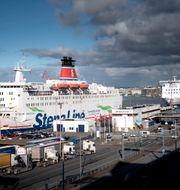En Stena Line-färja i Göteborg. Björn Larsson Rosvall/TT / TT NYHETSBYRÅN