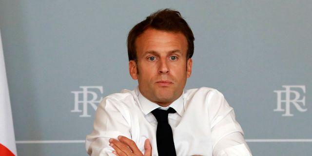 Emmanuel Macron i förra veckan. Ludovic Marin / TT NYHETSBYRÅN