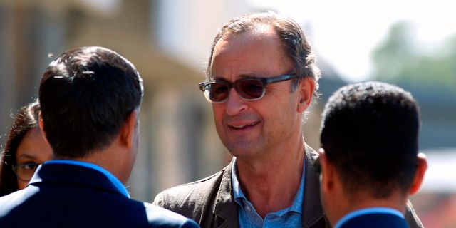 Patrick Cammaert i Jemen i december.  MOHAMMED HUWAIS / AFP