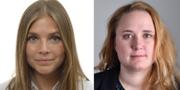 Louise Meijer och Elin Segerlind. Riksdagen/TT