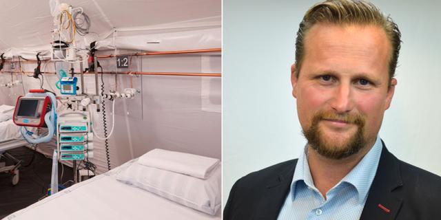 Intensivvårdsplats i Helsingborg / Regionrådet Carl Johan Sonesson (M) Andreas Hillergren / TT NYHETSBYRÅN /Pressbild Allians för Skåne