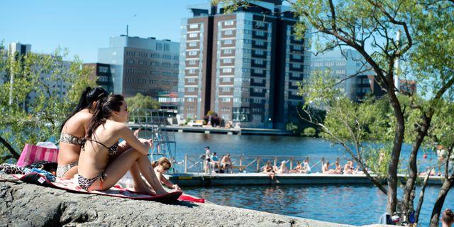 Arkivbild. Badstranden vid Tanto på söder i Stockholm.  Jessica Gow/TT / TT NYHETSBYRÅN