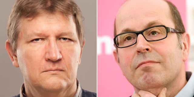 Roland Poirier Martinosson t.v, Jan Scherman t.h. Timbro/TT