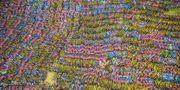 Det är inte ett konstverk, men Kinas nya cykelkyrkogård ser minst sagt vacker ut från ovan. Getty