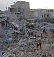 Bild från Zardana i Idlibprovinsen från 2018. OMAR HAJ KADOUR / AFP