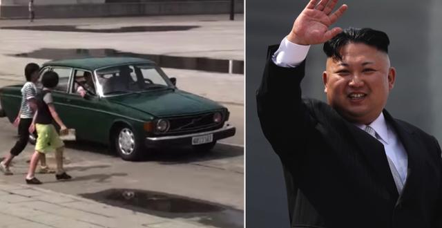 Volvo 144/Kim Jong-Un, Nordkoreas diktator Filmklipp från Pyongyang/TT