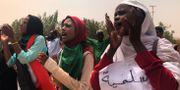 Demonstrationer mot militärjuntan i Sudan. Hussein Malla / TT NYHETSBYRÅN/ NTB Scanpix