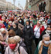 Protesterna har pågått regelbundet sedan det kritiserade presidentvalet i augusti.  TT NYHETSBYRÅN