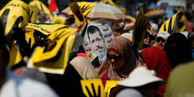 Anhängare till Muslimska brödraskapet i Egypten. Lefteris Pitarakis / TT / NTB Scanpix