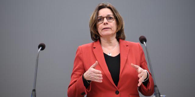 Isabella Lövin (MP), miljöminister. Fredrik Sandberg/TT / TT NYHETSBYRÅN