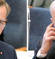 Mikael Damberg och Fredrik Reinfeldt. TT