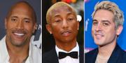 Dwayne Johnson, Pharrell Williams, G-Eazy TT