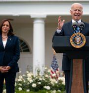 Kamala Harris, USA:s vice president och Joe Biden, USA:s president.  Evan Vucci / TT NYHETSBYRÅN