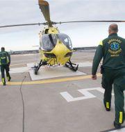 Ambulanshelikopter i Stockholm (illustrationsbild)/Polisens inlägg TT/Polisen