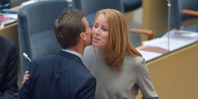 Bild från dagens debatt. Jessica Gow/TT / TT NYHETSBYRÅN