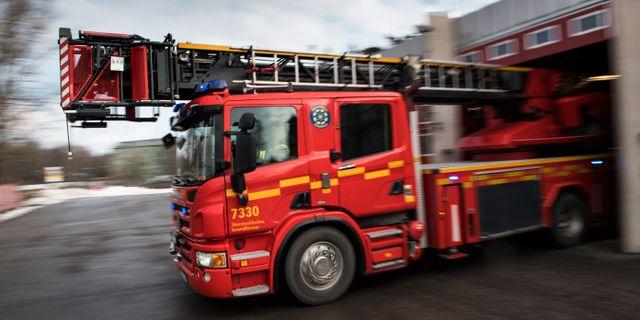 En brandbil/arkivbild.  Pontus Lundahl/TT / TT NYHETSBYRÅN