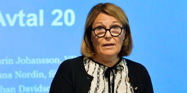 Arkivbild: Svensk Handels vd Karin Johansson.  Anders Wiklund/TT / TT NYHETSBYRÅN