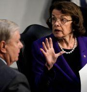 Lindsey Graham och Dianne Feinstein i senatens justitieutskott.  J. Scott Applewhite / TT NYHETSBYRÅN