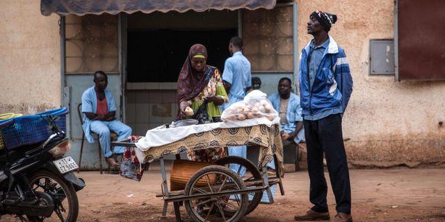Illustrationsbild. Stadsliv i Ouagadougou. OLYMPIA DE MAISMONT / AFP