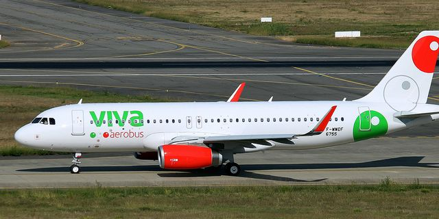 Arkivbild: Airbus A320 från Viva Aerobús. Wikimedia Commons